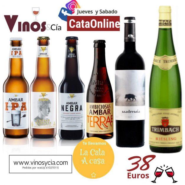 Pack cata on line Vino y cerveza