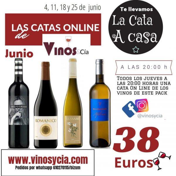 Pack de vinos de junio para catas on line